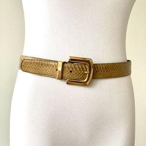"""Vintage Genuine Snake Skin Belt  35"""""""